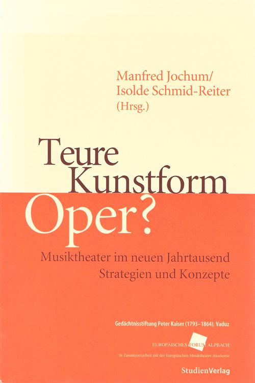Buchcover Teure Kunstform Oper?
