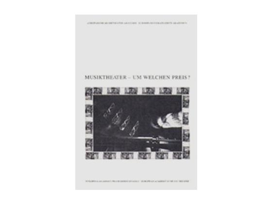 Buchcover Musiktheater - Um welchen Preis