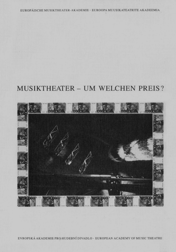 Buchcover Musiktheater –Um welchen Preis?